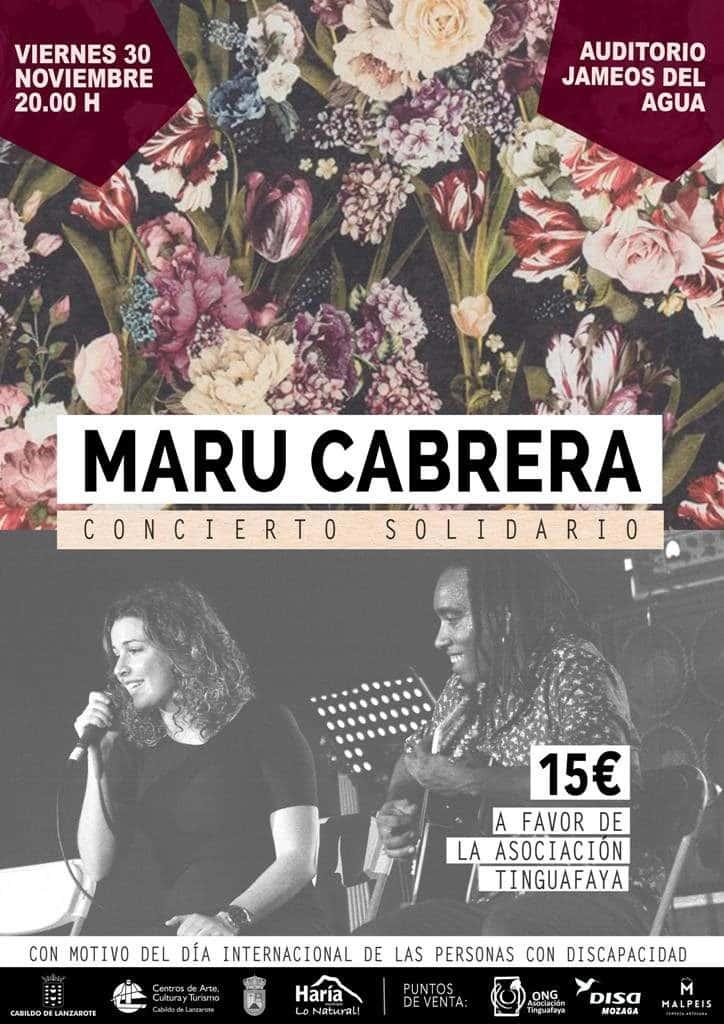Maru Cabrera in concert 30.11.18 - 15€